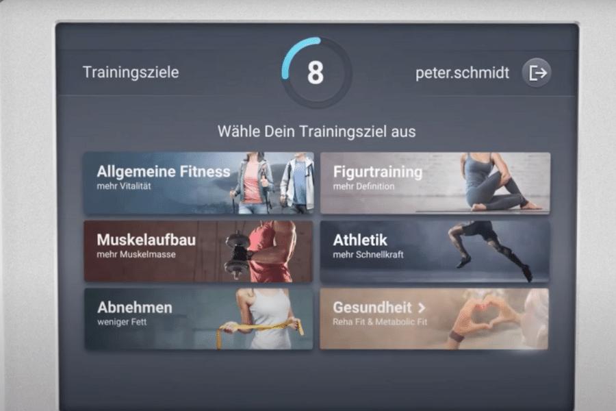 Übersicht der egym Trainingsprogramme